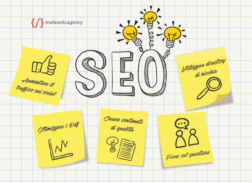Cinque attività SEO per l'ottimizzazione del tuo sito web