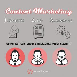 Content Marketing per la tua azienda - raggiungere e fidelizzare clienti - Metaweb