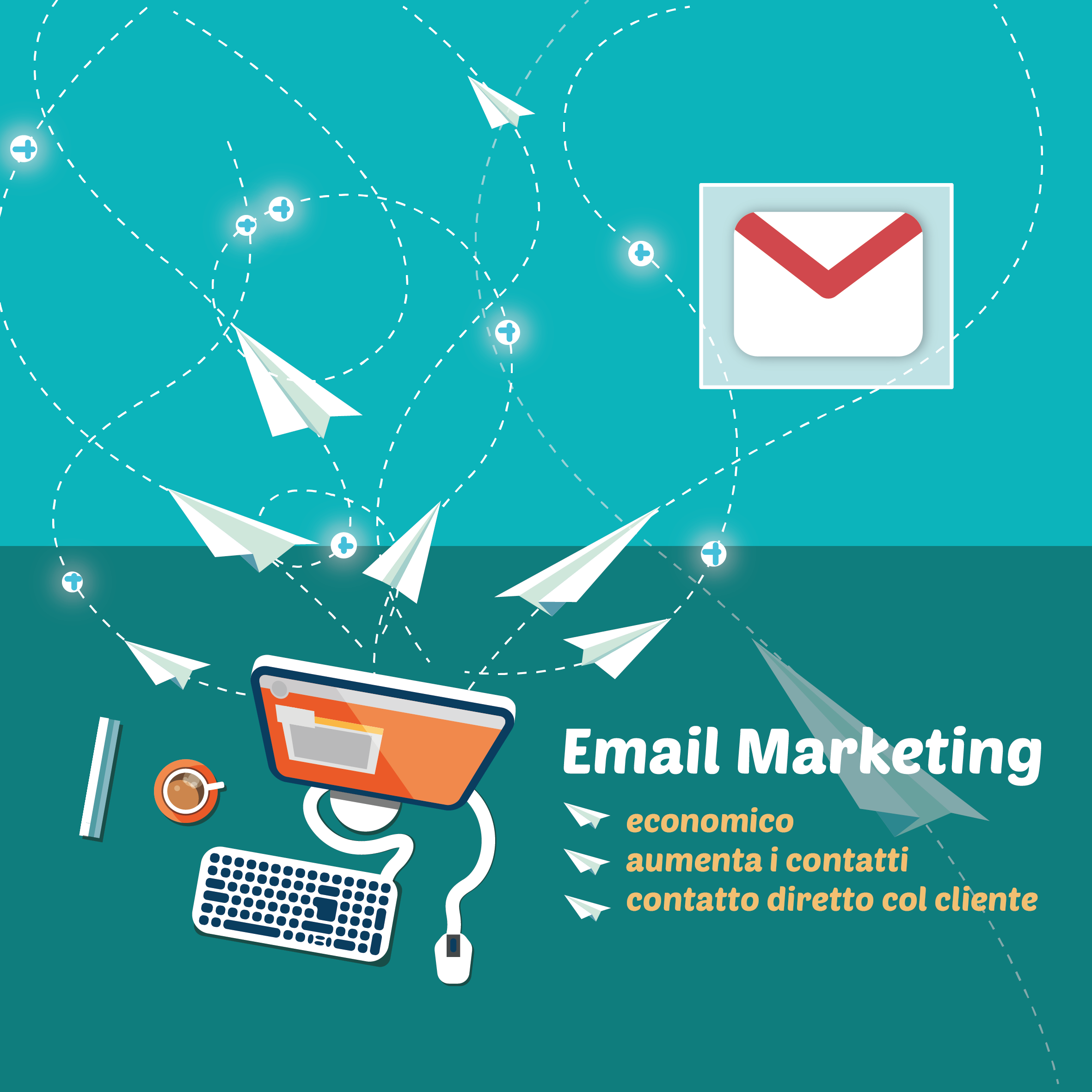 Email Marketing per raggiungere clienti - Metaweb Valtellina