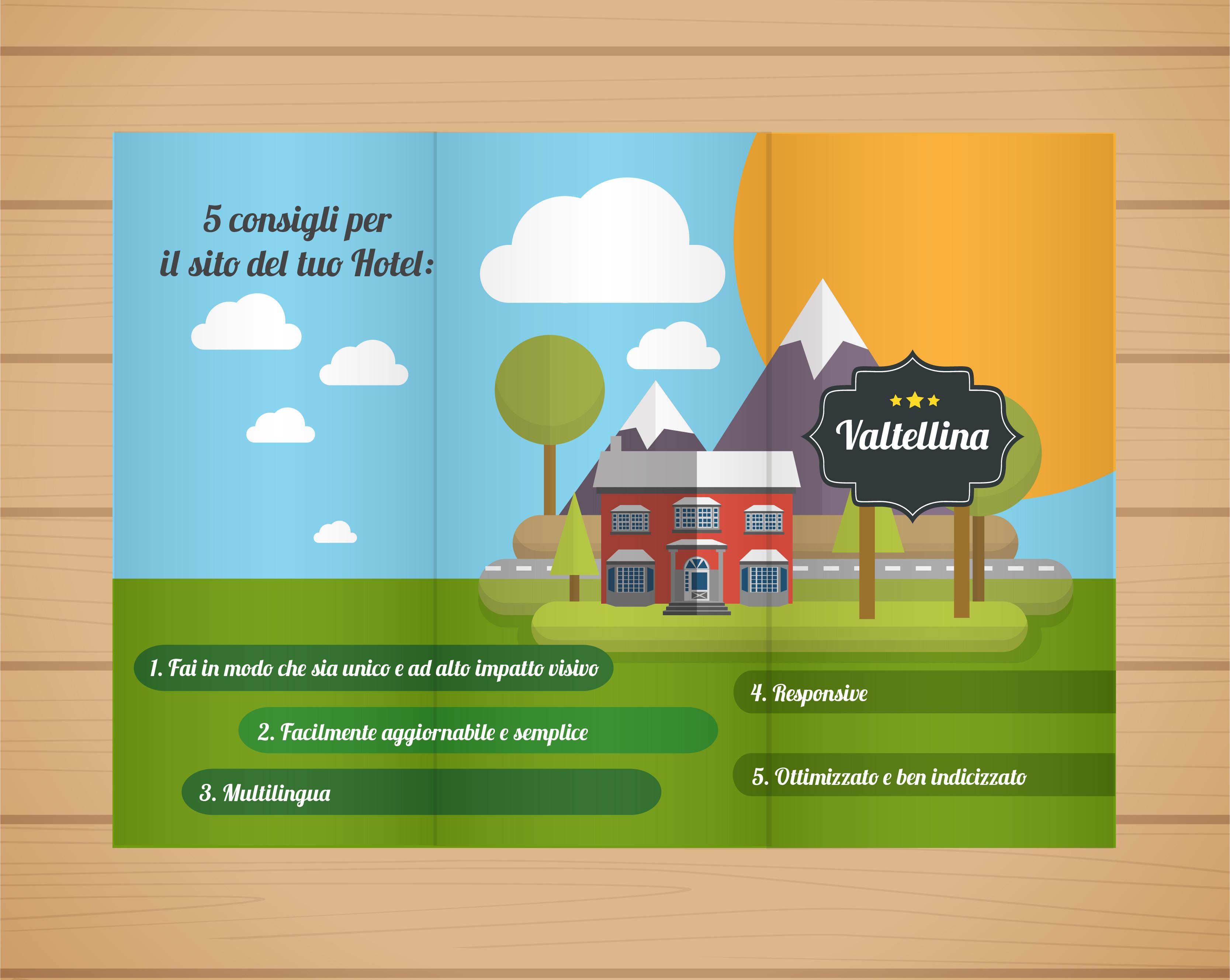 Siti web responsive autogestibili e SEOReady per hotel e alberghi Valtellina
