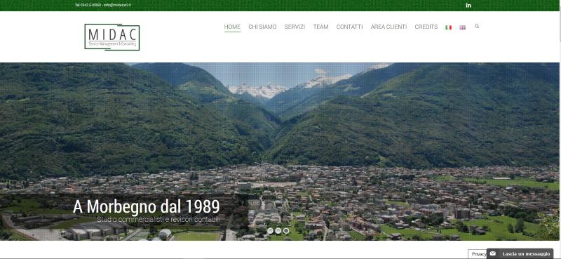 Sito web MIDAC - web design - graphic design - metaweb web agency
